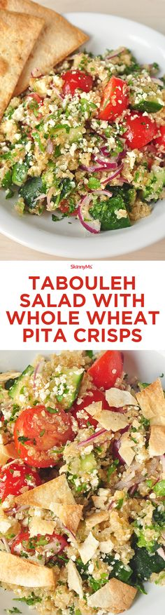 Tabouleh Salad with Whole Wheat Pita Crisps