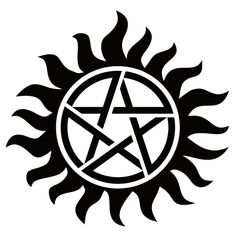 [Single Count] Custom and Unique Inches) Round Supernatural Magical Pagan Anti Possession Pentagram Sun Symbol Iron On Embroidered Applique Patch {Black and Red Colors} Supernatural Fans, Supernatural Anti Possession Tattoo, Supernatural Pentagram, Anti Possession Symbol, Supernatural Tattoo, Supernatural Wallpaper, Spn Tattoo, Demon Possession, Demon Tattoo