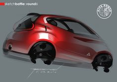 Alfa Romeo car design drawing