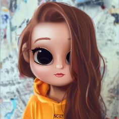 Cartoon, Portrait, Digital Art, Digital Drawing, Digital Painting, Character Design, Drawing, Big Eyes, Cute, Illustration, Art, Girl, Madelame, Riverdale, Madelaine, Petsch, Cheryl, Yellow, Sweater, Redhead, Red Hair