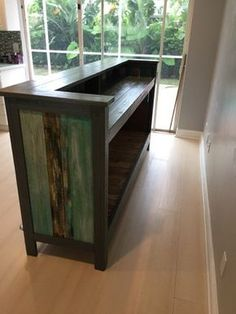 This is a surf pallet bar, and this maybe weird but this is good inspiration for a desk, I like surfaces that I can stand or sit at, so this looks perfect.