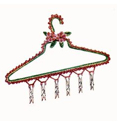 Vintage 1940s Pattern Crochet Stocking Hanger by 2ndlookvintage, $3.00