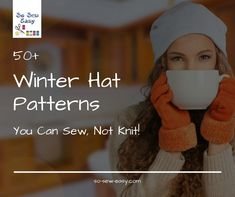 free winter hat patterns you can sew, not knit! - so sew easy Fleece Hat Pattern, Hat Patterns To Sew, Sewing Patterns Free, Free Sewing, Rug Patterns, Skirt Patterns, Free Pattern, Sewing Men, Sewing Blogs