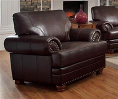 Hurley Traditional Brown Upholstery Stationary Fabric Chair