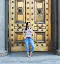 Simple Stripped Outfit #ootd #slc