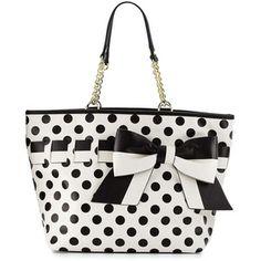 Betsey Johnson Gift Me Baby Polka-Dot Tote Bag