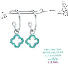 Earrings at last!! Http://carolesheavenlyowl.origamiowl.com order from my site tons of new spring items♥