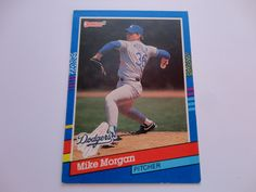 Mike Morgan Donruss 91 Baseball Card.