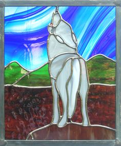 Howling Wolf Stained Glass