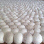 Felt Ball Crafts offers its buyer with FREE 3 meter matching colour garland with the purchase of any Felt Ball Rug. Baby Nursery Rugs, Felt Ball Rug, Merino Wool Blanket, Crafts, Manualidades, Handmade Crafts, Craft, Arts And Crafts, Artesanato