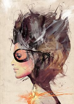 Brush strokes, splatter, abstract, and more, as Russ Mills creates a brilliantly creative illustration. These illustrations by Russ Mills are some of the best Psychedelic Art, Ink Illustrations, Illustration Art, Portraits, Sculpture, Looks Cool, Mixed Media Art, Mix Media, Urban Art