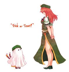Maiden Grimoire. Chen and Meiling from Touhou.