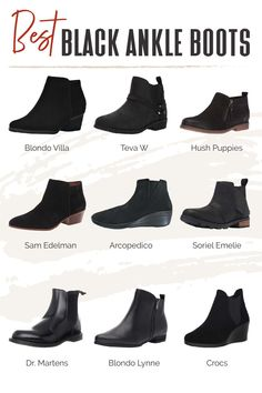 Ankle boots are some of the most versatile shoes for travel. They're practical for the weather, fashionably versatile, and can be found in many comfortable styles. Find out our readers' picks for the best black ankle boots! #TravelFashionGirl #TravelFashion #TravelBoots #blackankleboots #ankleboots #leatherboots Travel Outfits, Travel Fashion, Travel Style, Black Ankle Boots, Ankle Booties, Travel Boots, Best Black, Hush Puppies, Winter Shoes