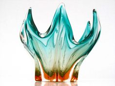 Regal XL Majestic Dramatic Flavio Poli Seguso Vetri D'Arte Art Glass Dish Bowl | eBay