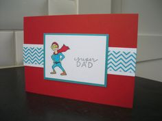Father's Day Card Birthday Card for Dad Super Dad by apaperaffaire, $2.75