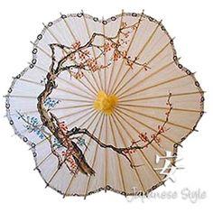paper parasol, Oriental umbrella, Japanese umbrella, cherry blossom parasol