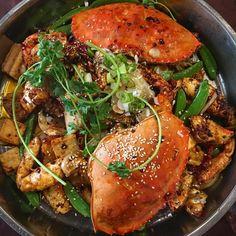 Spicy Crab cravings satisfied at Kam Han with snow peas rice cakes and fish tofu.  #yum #sogood #myfave #spicycrab #hiddengem #yycsbest #yyceats #yycfood #szechuanfood #chinesefood #thefeedfeed #food52 #f52grams #foodstagram #foodgram #foodpics #instagood #instafood #spicycrabpot #latergram