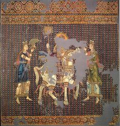 The so-called Gunthertuch is a Byzantine silk tapestry which represents the triumphal return of a Byzantine Emperor from a victorious campaign. The piece was purchased, or possibly received as a gift, by Gunther von Bamberg, Bishop of Bamberg, during his pilgrimage 1064/65 to the Holy Land.