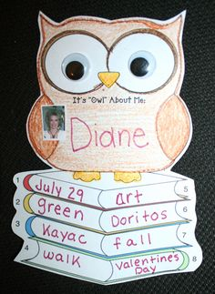 "Classroom Freebies: It's ""Owl"" About Me Back To School Icebreaker"