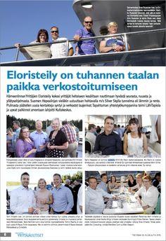 Hämeenlinnan Yrittäjien Eloristeilyllä 2015. #eloristeily #yrittajat #artikkeli