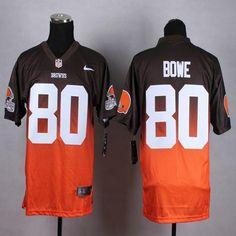 "$28.88 at ""MaryJersey""(maryjerseyelway@gmail.com) Nike Browns 80 Dwayne Bowe Brown-Orange Men Stitched NFL Elite Fadeaway Fashion Jersey"