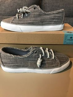 c8b4d4956876e Sperry New Seacoast Sparkle Silver Womens 5 M Lace Up Shoes M32  fashion   clothing