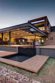 Marvelous Modern House Architecture Design Ideas – Page 29 of 82 – wunderbare moderne Hausarchitektur Design-Ideen –. Modern House Plans, Modern House Design, Modern Houses, Home Design, Architecture Design, Adobe House, Dream House Exterior, House Exteriors, Commercial Architecture