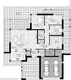 Projekt domu HomeKoncept-58 141,68 m2 - koszt budowy - EXTRADOM Simple House Design, Home Fashion, House Plans, Floor Plans, Architecture, House Styles, Projects, Home, Blueprints For Homes