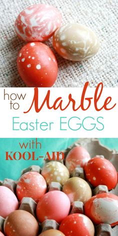 Marble Easter Eggs with Kool-Aid - Such an easy and beautiful Easter egg decorating technique for kids and adults!