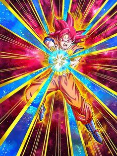 "[Saiyan Savior of Legend] Super Saiyan God Goku ""All right! Let's try a Kamehameha!"""