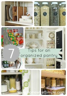7 Tips to Organize Your Pantry... Affordably! @ www.SomewhatSimple.com #pantry #organization