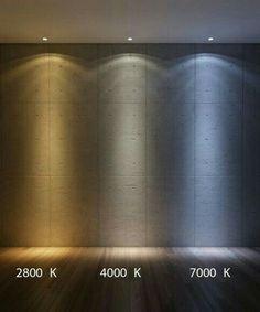 Correlate Color Temperature (Kelvin) of LIght - Simulated with Autodesk studio Max Design by Luca Rostellato Photorealistic simulation of light Interior Lighting, Home Lighting, Outdoor Lighting, Salon Interior Design, Interior And Exterior, Exterior Design, Luz Artificial, Blitz Design, 3d Studio
