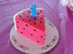 Watermelon smash cake - from indulge bakery in lafayette, Colorado Baby Girl 1st Birthday, Summer Birthday, Birthday Bash, First Birthday Parties, Birthday Party Themes, First Birthdays, Birthday Ideas, Birthday Cakes, Watermelon Birthday Parties