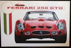 Acrylic on canvas Ferrari