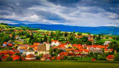 View in Austria / Styria / Village: Vorau Austria, Creative, Christian, Mountains, Landscape, Country, Pictures, Photography, Painting