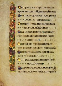 Iona, where the Book of Kells may have been made. Patrick's Day, I'm reminded that I'm about as Irish as cassoulet and weisswurst. Illuminated Letters, Illuminated Manuscript, Four Gospels, Beautiful Handwriting, Beatitudes, Book Of Kells, Old Maps, It's Meant To Be, Calligraphy Art