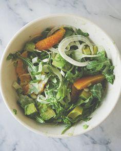 citrus fennel tahini salad