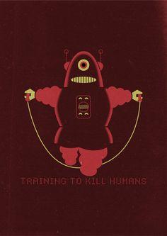 Training to kill humans by Marco Recuero, via Behance