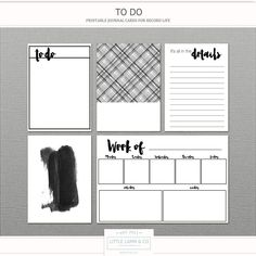 """Free Journal Cards from Little Lamm Co. 