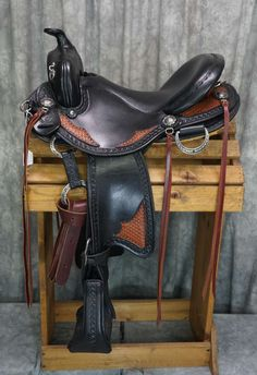 TWO TONE WESTERN TRAIL WITH GAITED BARS BY ALLEGANY ...