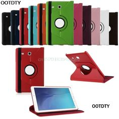 OOTDTY Luxury 360 Rotating Flip Smart PU Leather Case Cover Tablet Case For Tab E T560 Case 10 Colors Choice #L059# new hot #Affiliate