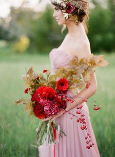 Red Blush Wedding Inspiration 07