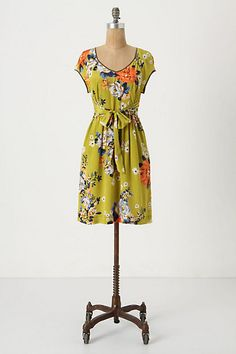 Chartreuse Shoots Dress #anthropologie