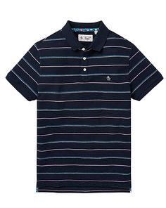 Touch Luxury Mens Shirt Polo Banana Republic Navy Slim Stripe IqxSt