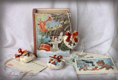 """Купить Новогодний набор """" Ностальгия по детству """"(резерв) - бежевый, новогодний подарок, новогодний сувенир"""