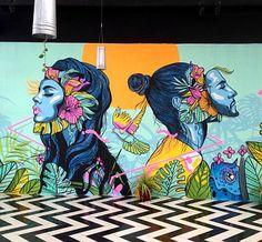 """People Connection"" a peaceful mural by – Graffiti World Murals Street Art, Graffiti Art, Mural Painting, Mural Art, Wall Mural, Psychedelic Art, Art On Wall, Kunst Inspo, Urbane Kunst"