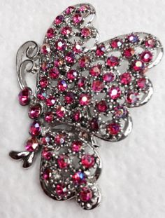Butterfly Pin Pink Beautiful by JewelryLoveCharm on Etsy