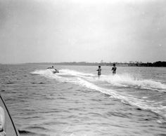 Water skiing in Fort Walton Beach. This photograph was taken in June 1956 and is part of the Florida Memory collection.