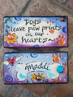 Items similar to Faith, Faith Brick, Art Brick, Garden Stone on Etsy Painted Bricks Crafts, Brick Crafts, Painted Pavers, Painted Pots, Hand Painted, Cement Pavers, Brick Pavers, Painted Canvas, Concrete Wall