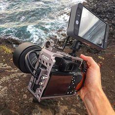 Hold on lil fella!  Love this #sweet Sony A7SII setup by @endurefilms